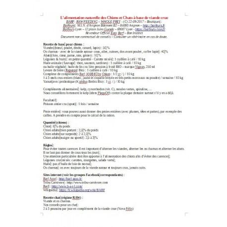 Documents à télécharger Conseils BARF