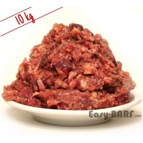 Haché poulet, Bœuf et légumes 12 kg